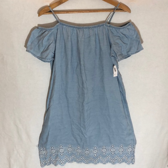 ebcff3c1d615 Old Navy Chambray Off The Shoulder Dress
